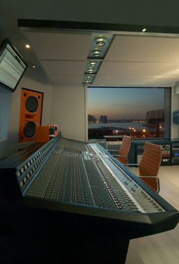 Integrated Studio control room side view